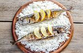 Grilled Mackerel With Basmati Rice