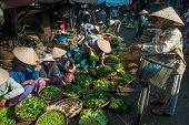 Selling Vegetables In Vietnam