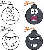 Bomb Cartoon Characters 1  Collection Set