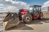 Plow tractor test-drive. Tyumen. Russia