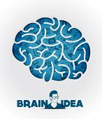 Brain icon and idea design