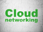 Cloud networking concept: Cloud Networking on wall background