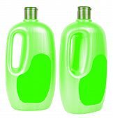 Big Shampoo Containers Isolated