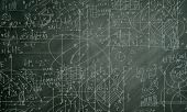 image of formulas  - Background conceptual image with business sketches on chalkboard - JPG