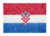 Croatian Flag made of plastic pearls