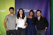 LAS VEGAS - APR 8:  Eoin Macken, Jill Flint, Daniella Alonso, Freddy Rodriguez at the NBCUniversal S