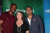 LAS VEGAS - APR 8:  Keenen Ivory Wayans, Roseanne Barr, Russell Peters at the NBCUniversal Summer Pr