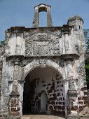 picture of malacca  - The famous iconic A Famosa Fort located in Malacca - JPG