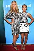 PASADENA - APR 8: Heidi Klum, Mel B at the NBC/Universal's 2014 Summer Press Day held at the Langham