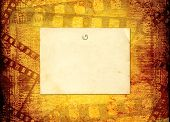 Old Filmstrip On The Paper Abstract Background