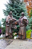 Saints Cyril and Methodius statue in Kiev