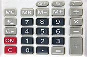 Keypad Of A Calculator Isolated.