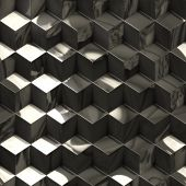 Abstract metallic cubes technology background