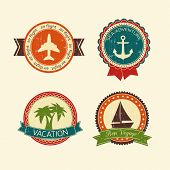 Vacations travel badges collection