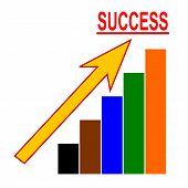 Color Chart With An Arrow And The Word Success