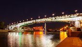 Moskva River and bridge with reflections