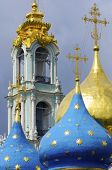 forefront of the dome of Trinity St.Sergius Monastery, Sergiev Posad, Russia.
