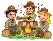 picture of boy scout  - Children scouts theme image 1  - JPG