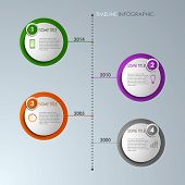 Timeline info graphic round template