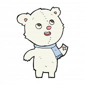cartoon polar bear with scarf