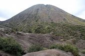 image of bromo  - Peak of volcano Botok near Bromo Indonesia - JPG