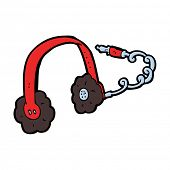 cartoon headphones