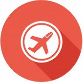 Travel Flat Icon with Shadow. Vector Pictogram. EPS 10.