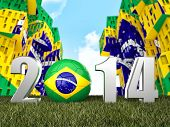 2014 soccer text and favela background