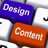 Design And Content Keys Mean Presentation Of Company Advertising