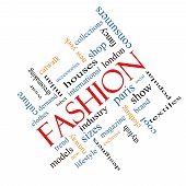Fashion Word Cloud Concept Angled
