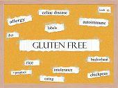 Gluten Free Corkboard Word Concept