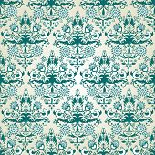 Seamless wallpaper pattern.  Vector illustration.