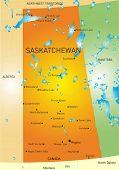 Vector color map of Saskatchewan province