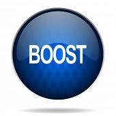 boost internet blue icon