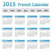 2015 France European Calendar. Week starts on Monday