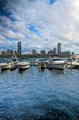 Boats Along The Charles River In Boston
