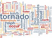 stock photo of colouder  - Background concept wordcloud illustration of tornado storm weather - JPG