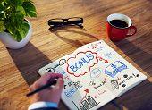 Businessman Sketching About Bonus Concept