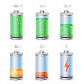 battery icon set