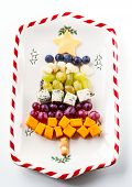 foto of cheese platter  - Christmas tree cheese platter - JPG