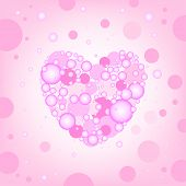 circular heart effects background