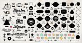 image of music symbol  - Set of Vintage Hipster Labels - JPG