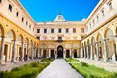 Quadrangle of the law faculty , University of Palermo. Sicily. Italy.