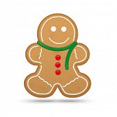 Gingerbread Man Cookie Vector Illustration