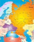 Vector color west europe map