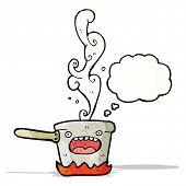 cartoon boiling pan