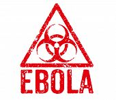 Red Stamp on a white background - Ebola