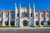 Lisbon, Portugal. August 24, 2014: National Museum of Archeology (Museu Nacional de Arqueologia) in the Belem District, Lisbon, Portugal. Integrated in the Jeronimos Monastery