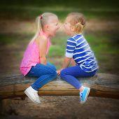 Two sisters quarreling.