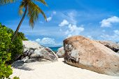 image of virginity  - Beautiful tropical beach with white sand - JPG